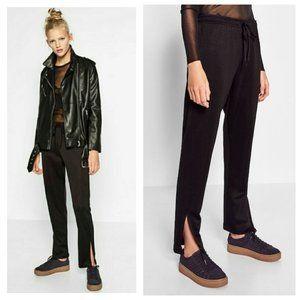 Zara Black Side Slit Jogger Trousers